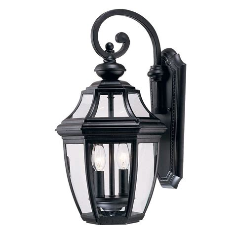 black farmhouse outdoor light bel air lighting farmhouse 2 light outdoor black wall