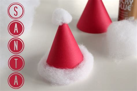 How To Make Paper Santa Hats - abc series s is for santa make and takes