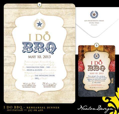 i do bbq rehearsal dinner invitations nealon design i do bbq rehearsal dinner invitation