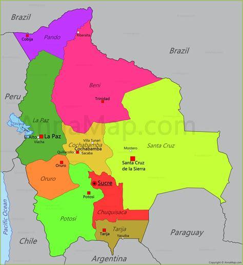 imagenes satelitales bolivia bolivia map map of bolivia annamap com
