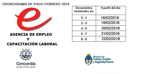 cronograma de pago de los programas del ministerio de trabajo cronograma de pago de programas nacionales concordia hoy