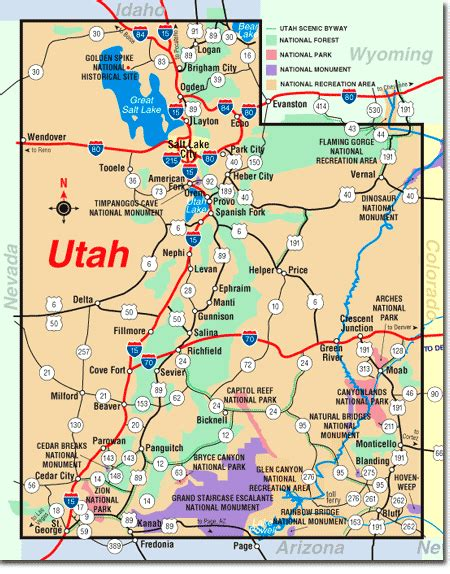 printable map utah maps map utah