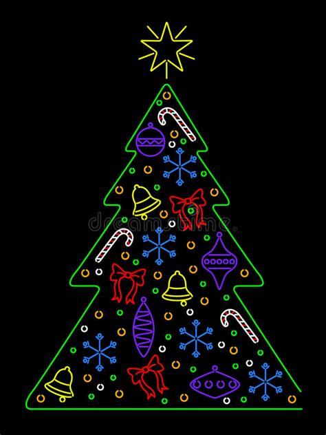 neon xmas tree neon tree stock vector image of bulb 16011302