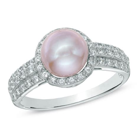 7 5 8 0mm pink cultured freshwater pearl and lab created