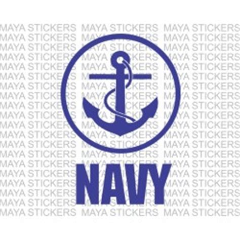 Customizable Wall Stickers navy anchor logo stickers with circular design available
