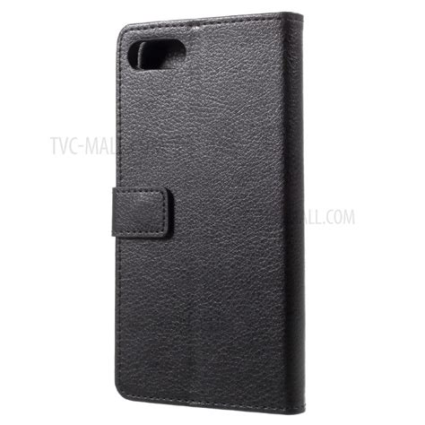 Asus Zenfone 4 Max Pro Leather Flipcover Flipcase Casing Kulit litchi grain leather wallet stand flip for asus