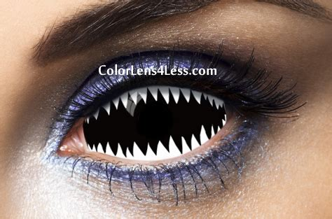 white color contacts jaws white sclera contact lens pair 019 98 00