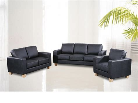 Leather Sofa 3 2 Set 3 2 1 Seater Sofa Suite Faux Leather Homegenies