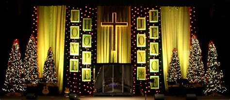 new year decoration in the church lines of text church stage design ideas