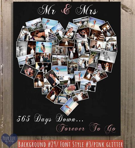 First Anniversary Gift, Anniversary Photo Collage