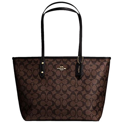 Tas Coach Signature Shooping Tote City Zip Bags 2in1 3025 3 new authentic coach signature large new york city zip
