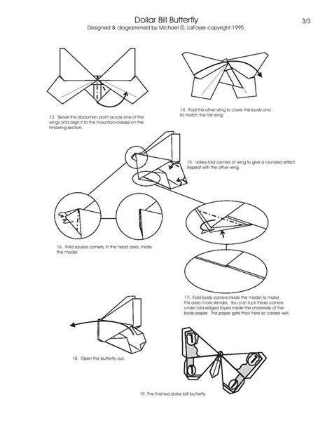 Origami Butterfly Diagram - 26 best paper origami and folding diagrams images on