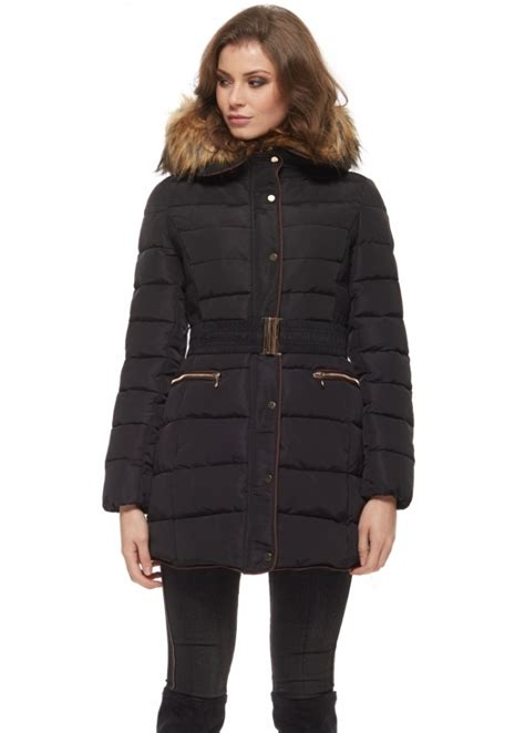 Designer Quilted Coats by Black Quilted Coat Black Hooded Coat Designer Quilted Coat
