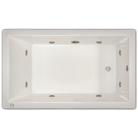 4 1 2 ft right drain drop in whirlpool tub in white lpi18