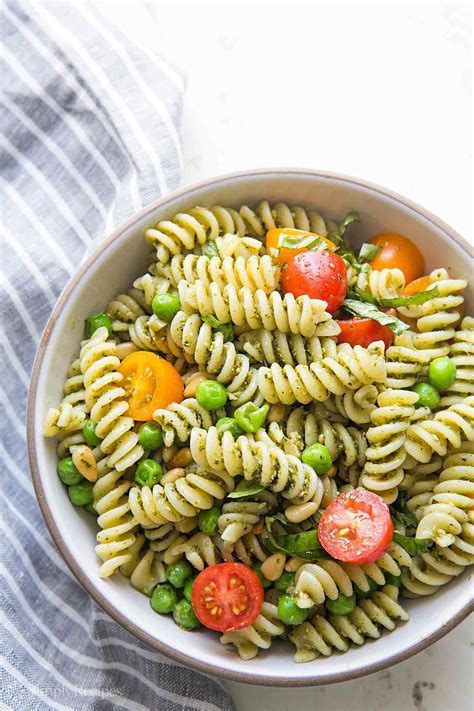 pesto pasta salad recipe pesto pasta salad recipe simplyrecipes com