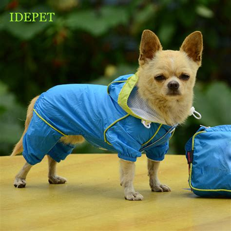 small raincoat raincoats for small pet hoody jacket raincoat waterproof clothes for dogs