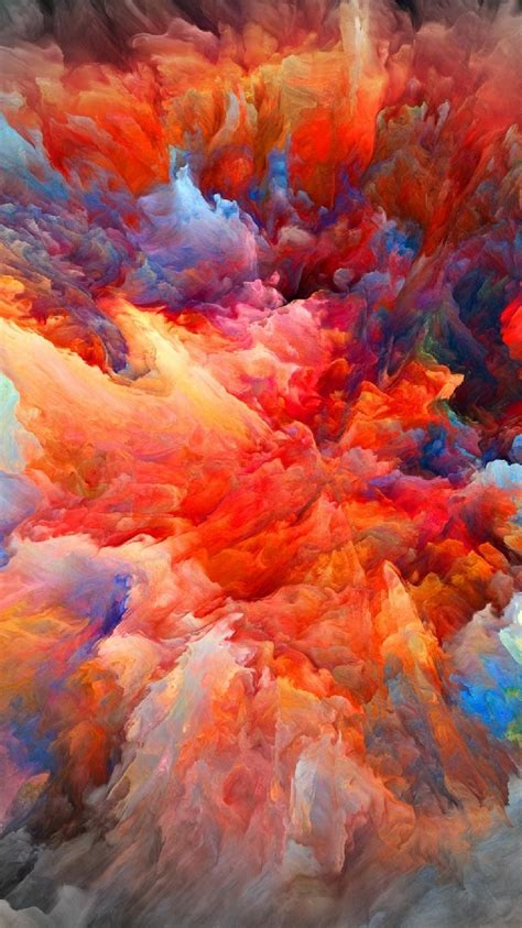 iphone wallpaper explosion of color paint my hd wallpapers