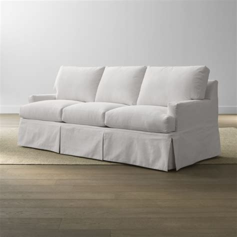 crate and barrel sofa slipcovers slipcover only for hathaway sofa snow crate and barrel