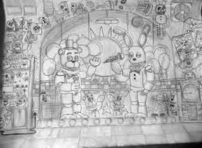Drawing of fredbear s family diner fnaf3 fanmade by freddyfredbear on
