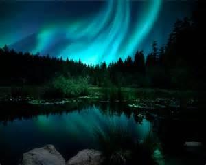 northern lights aurora borealis landscape photograph christmas