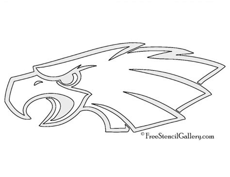 printable nfl pumpkin stencils nfl philadelphia eagles stencil free stencil gallery