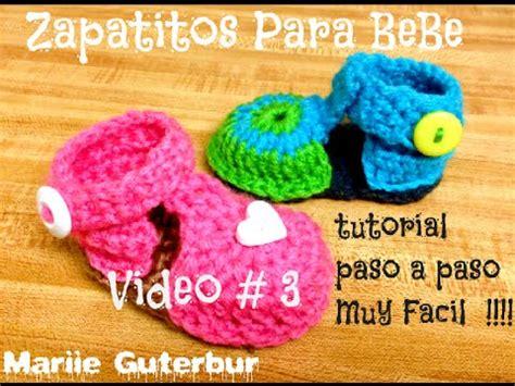como hacer zapatitos tejidos para bebes youtube como hacer zapatitos para bebe video 3 tejidos con