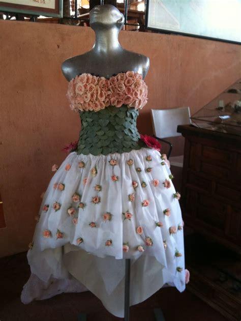 Vestido Con Material Reciclado | vestido asimetrico para quincea 241 era ecologica hecho con
