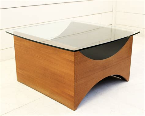 Wood And Glass Coffee Table Universal Exhibition 1967 Coffee Tables Montreal