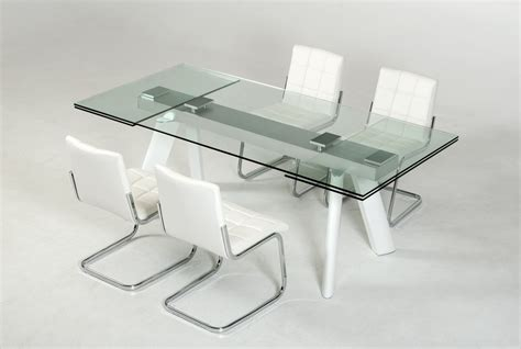 Extendable Glass Dining Table Set Large Extendable Glass Dining Table Set Los Angeles California Vig Draft Gallium