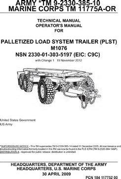 the system trailer loading education books army tm 9 2330 385 10 marine corps tm 11775a or technical