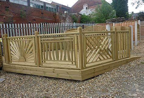 48 Base Cabinet Decking Fence Panels Cross Hatch Deck Panel Pennine