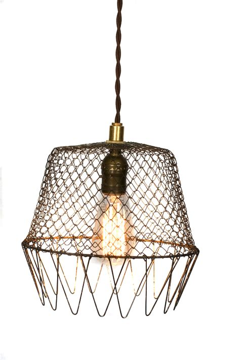 wire cage pendant light vintage collapsible wire cage egg basket pendantjunkyard
