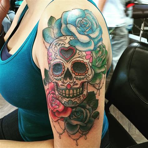 color skull tattoo designs 60 best sugar skull designs meaning