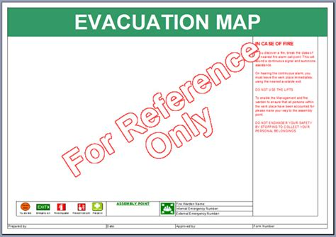 emergency evacuation template evacuation map template