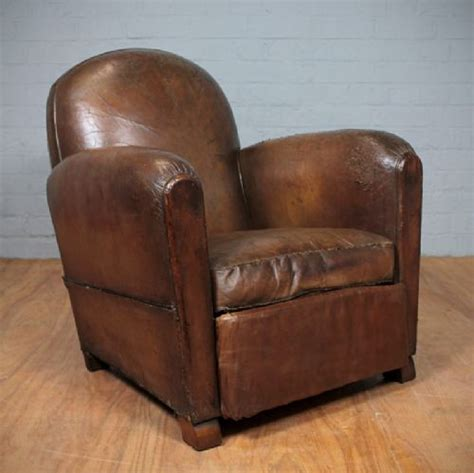 vintage leather armchair vintage french leather armchair 241956