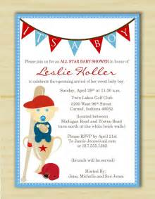 it s a boy sports baby shower invitation set of 10 on luulla