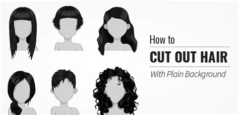 hairstyles cut out how to cut out hair in your image using photoshop