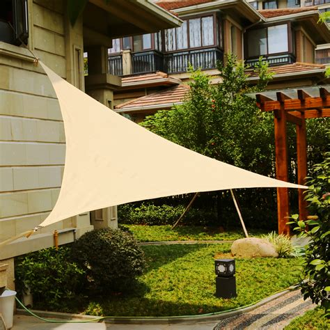 shade cover for patio lyshade 12 triangle sun shade sail canopy uv block