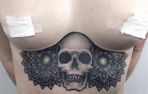 80 under breast tattoos that will emphasize your assets