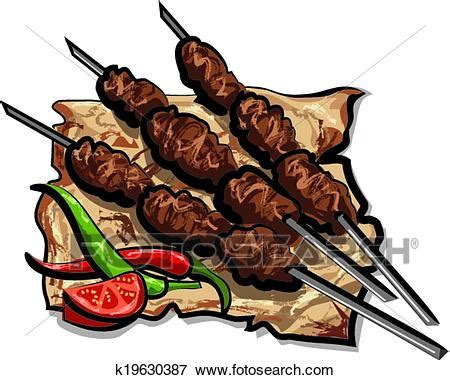 kebab clipart clip of grilled kebab k19630387 search clipart