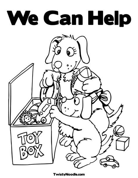 Helping Coloring Page free coloring pages of helping