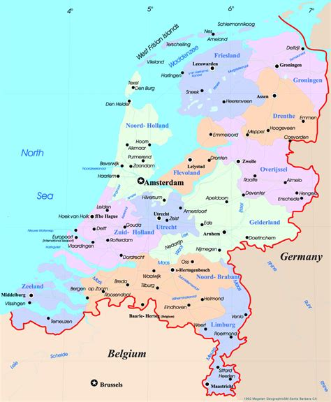 map of netherlands image gallery netherlands map europe
