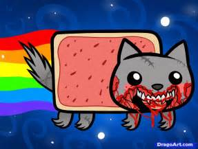 The Brave Little Toaster Coloring Pages How To Draw Zombie Nyan Cat Zombie Nyan Cat Step By Step