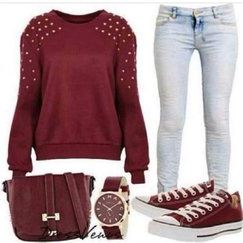 Sweater Converse Shoes Maroon sweater bag converse shoes back to