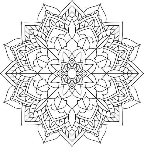 free mandala coloring pages what s your sign clipart floral mandala line