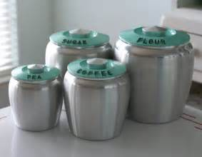 Turquoise Kitchen Canisters Set Of Kromex Turquoise Canisters By Jaditekate On Etsy