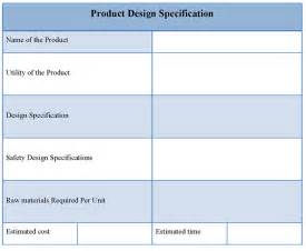 Product Design Requirements Template by Interior Design Specification Template Studio Design