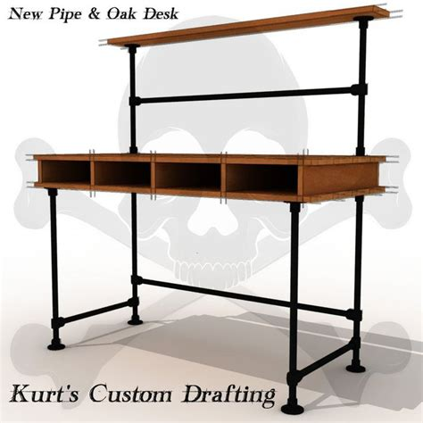 See More Industrial Pipe Desks At Http Www Diy Desk Pipe