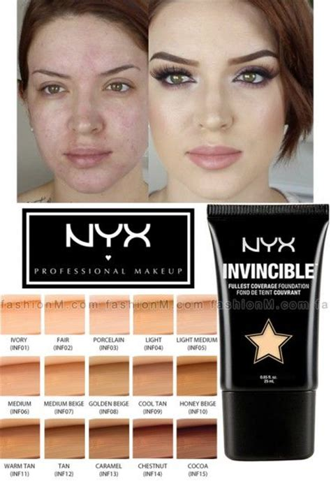 Nyx Invincible Fullest Coverage Foundation 15 best ideas about foundation dupes on best