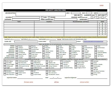 Jsa Job Safety Analysis Pertaining To Activity Hazard Analysis Template Aplg Planetariums Org Activity Hazard Analysis Form Template